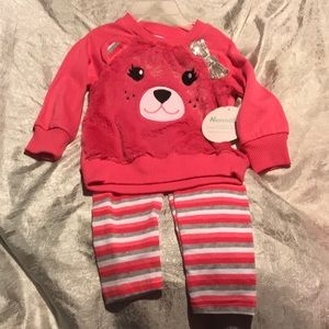 Brand new teddy bear minky matching outfit cute!